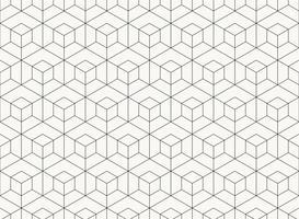 Motif à six pans creux dessin géométrique ligne noire d'arrière-plan tech. illustration vectorielle eps10