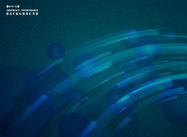 Motif de lignes abstraites bande futuriste de numérique dégradé bleu.