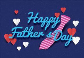 Heureuse fête des pères typo Vector