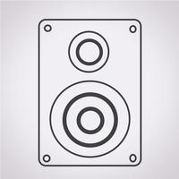 Icône de haut-parleurs