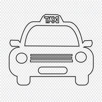 Icône de voiture de taxi vecteur