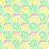 Seamless Pattern citron et citron vert vecteur