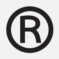 Icône de marque déposée vecteur