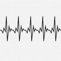 Icône de cardiogramme de battement de coeur vecteur