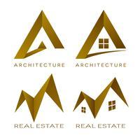 Icônes de l'immobilier architecture logos vectoriels vecteur
