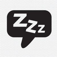 Signe de symbole icône de sommeil vecteur