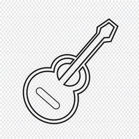 icône de la guitare acoustique