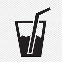 Icône de boisson gazeuse vecteur