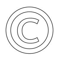 icône de symbole de copyright vecteur