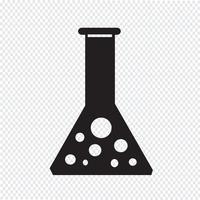 icône de tube à essai vecteur