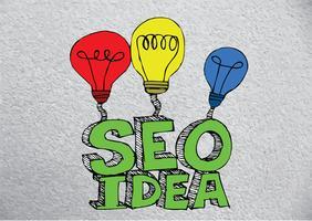 Seo Idea Référencement SEO vecteur