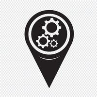 Icône de pointeur de carte vecteur