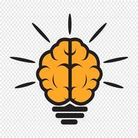 cerveau ampoule icône