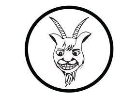 illustration de dessin animé de chèvre
