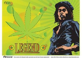 Légende de Bob Marley vecteur