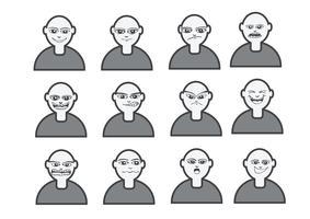 Cartoon faces Set illustration dessin vecteur
