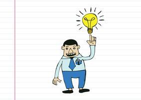 Homme de bande dessinée pensant style illustration vecteur
