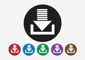 Icône de téléchargement et bouton de symbole de téléchargement