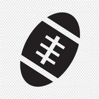 Icône de ballon de football américain