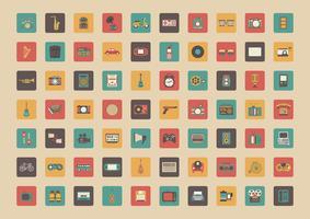 icône de tous les gadgets rétro vecteur