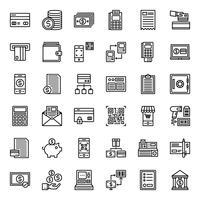 icône de contour de paiement vecteur