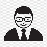 icône d'utilisateur de personnes vecteur