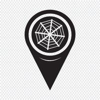Icône de réseau de pointeur de carte Web