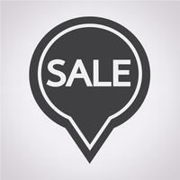 Symbole de vente icône vecteur
