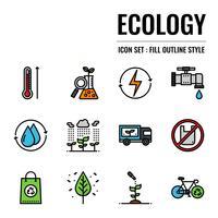 icône de contour de l'écologie