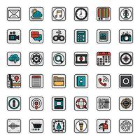 Icône de contour d'application mobile