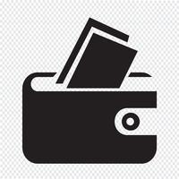 signe symbole de poche icône vecteur