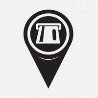 Icône de pointeur de carte ATM