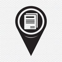 Icône de livre de pointeur de carte