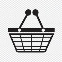 Shopping symbole symbole vecteur