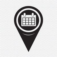 Icône de calendrier de pointeur de carte