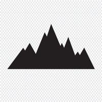 symbole de symbole icône montagnes