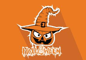 Carte d'Halloween à la citrouille