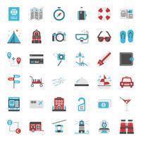 icône plate de voyage
