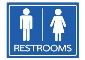 Symbole de toilettes homme et femme