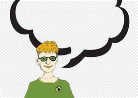 Les gens qui pensent et les gens qui parlent avec bulle de dialogue
