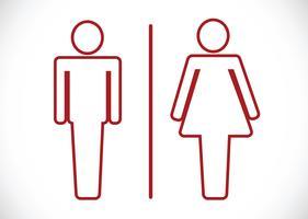 Icône de toilettes et pictogramme homme femme