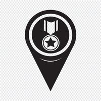 Icône de médaille de pointeur de carte