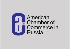 Chambre de commerce américaine en Russie vecteur