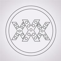 Symbole de symbole icône XXX