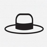 Symbole de symbole icône chapeau