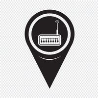 Icône de routeur de pointeur de carte
