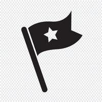 drapeau icône symbole signe vecteur