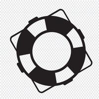 signe de symbole icône de bouée de sauvetage