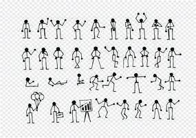 Les actions des personnes signent symbole pictogramme
