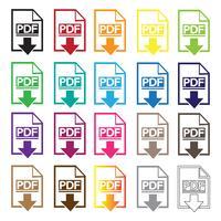 Icône de symbole PDF